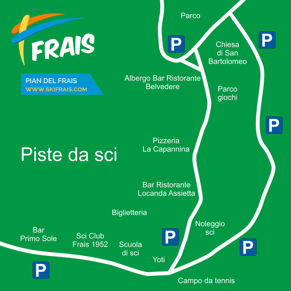 parking map pian del Frais